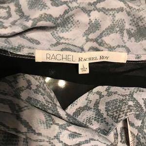 RACHEL Rachel Roy Dresses - Rachel Roy snakeskin draped dress: L